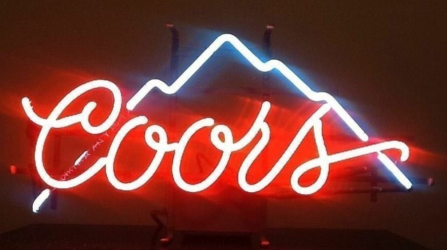 Custom Coors Mountain Glass Neon Light Sign Beer Bar