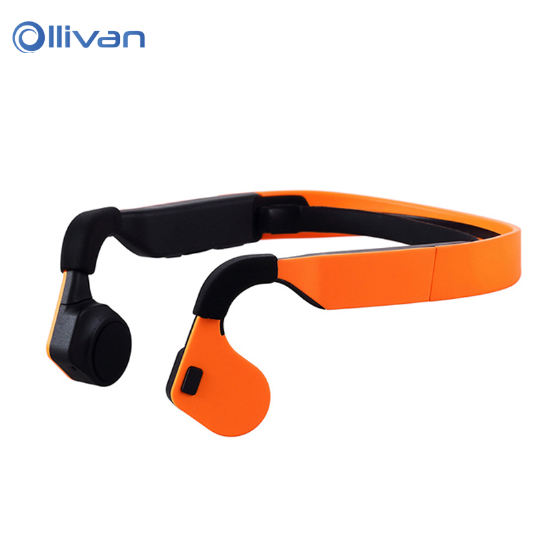 Bone Conduction Wireless Bluetooth Headphones Stereo Headsets HIFI Sound Sports Earphones with Mic for Mobile Phone Tablet PC