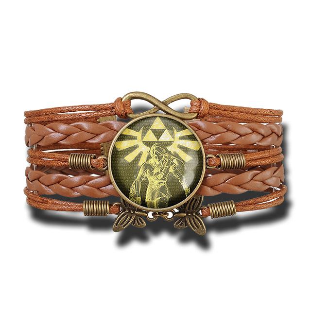 Legend of Zelda Patterned Leather Bracelet