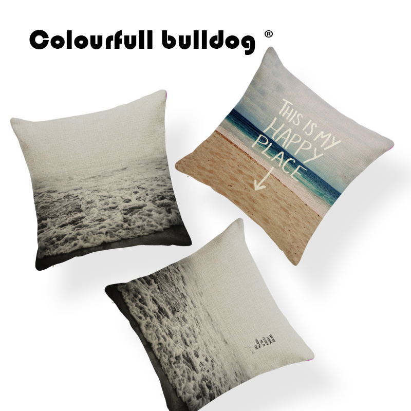 Sunlight Holiday Cushions Ocean Beach Pillow Cushion Case Hawaiian For Living Room Throw Pillow Cushion 43Cm Cotton Blend 2018