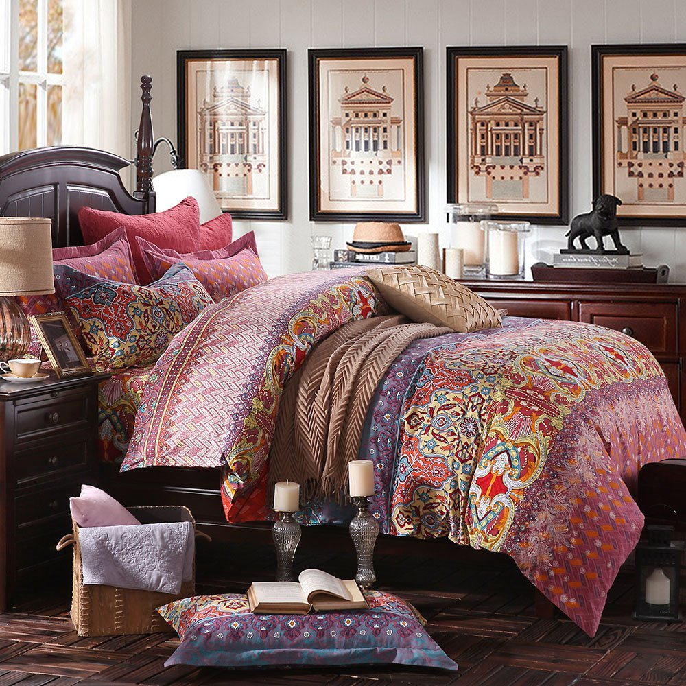 Fadfay Boho Style Bedding Sets Duvet Cover Set Bohemian