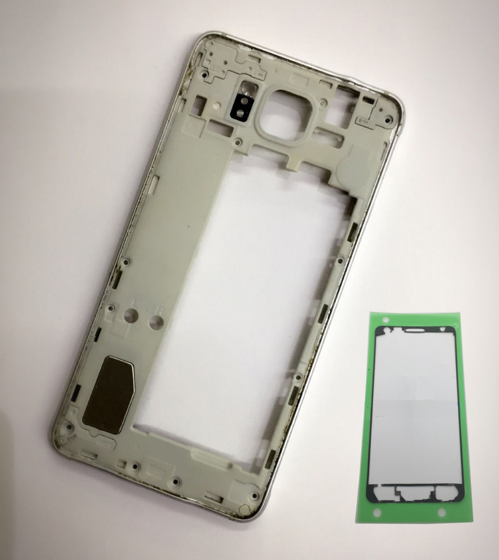 Original New For Samsung Galaxy Alpha SM-G850F G850F G850A G850 Phone Middle Bezel Housing Center Frame With Buttons Keys + Glue