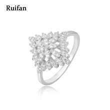 цены Clearance Sale Top Quality Cubic Zircon White Gold 100% 925 Sterling Silver Rings for Women 2019 Fashion Ring Jewelry YRI008