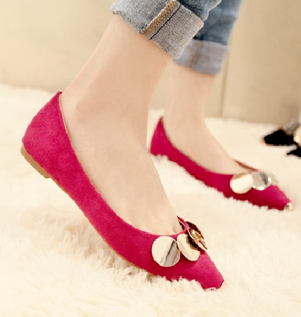 Flock Women Flats 2017 Pointed Toe Ladies Single Shoes Fashion Shallow Casual Shoes Plus Size 40-43 Small Yards 33 Sapatos memunia 2017 fashion flock spring autumn single shoes women flats shoes solid pointed toe college style big size 34 47