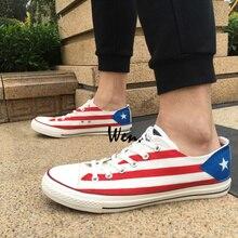 b8a62d4c0820 Wen Design Custom Hand Painted Sneakers Puerto Rico Flag Men Women s  Birthday Gifts