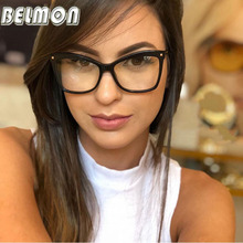 Belmon Optical Eyeglasses Frame Women Fashion Prescription Spectacles Simple Finished Glasses Frames Clear Lens Eyewear RS807