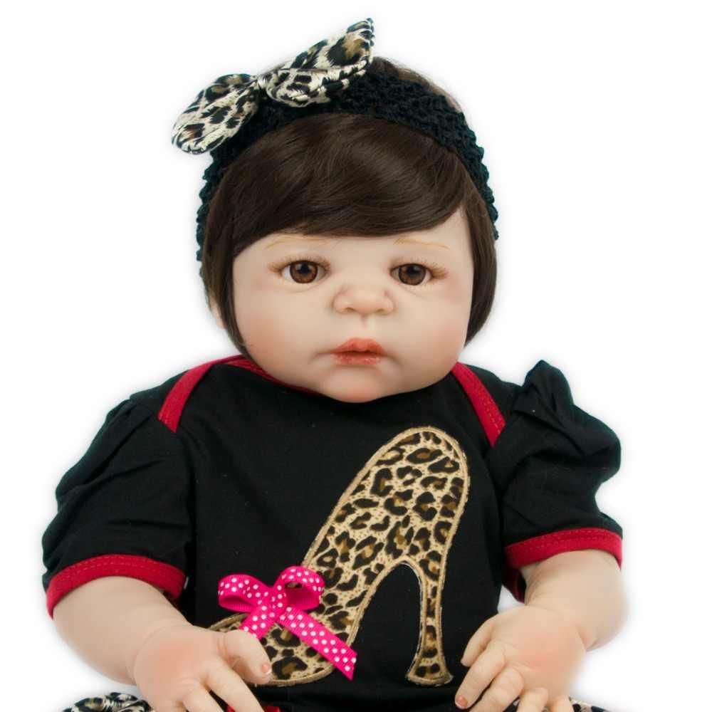 Младенческие счастливые куклы 55 см боди полностью серебряные леопардовые платья викторианские новые модные куклы настоящая красавица Девушка