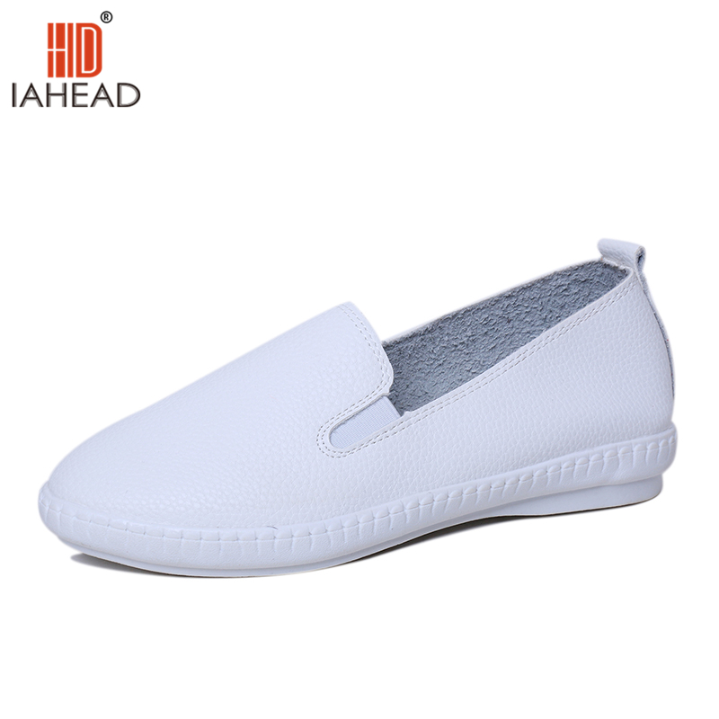 New Women Shoes Fashion Women Flats Light Soft Leather Shoe Casual Flat for Spring Shallow Shoes White Black Red Shoes AU139  nis women air mesh shoes pink black red blue white flat casual shoe breathable hollow out flats ladies soft light zapatillas