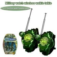 2pcs Walkie Talkie 7 In 1 Watch Compass Wireless For Children Kids Outdoor Interactive Toy S7JN