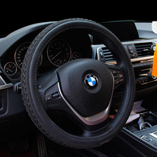 Car Steering Wheel Cover Leather Size 38cm Comfortable For BMW VW Skoda Ford Nissan etc. 95% Cars