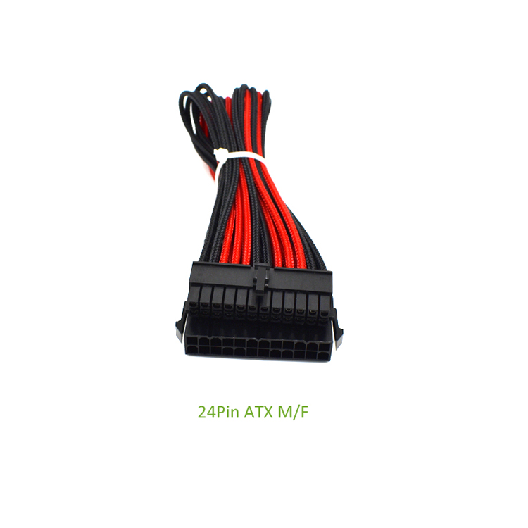 atx pcie cable nylon sleeved (1)