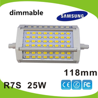 Free shipping 25W led 118mm R7S light dimmable J118 R7S lamp replace 250w halogen lamp AC85 265V