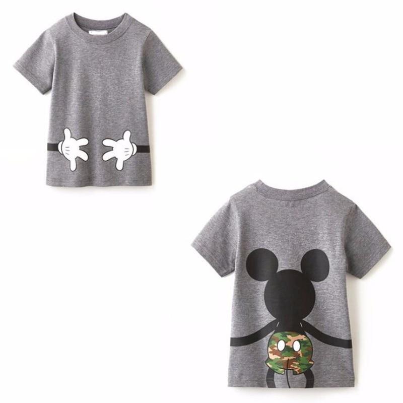 LILIGIRL футболка «Папа и я» летняя одежда для мамы и дочки хлопковый топ с Микки и Минни Маус для мальчиков и девочек, Семейные комплекты - Цвет: Ali913A