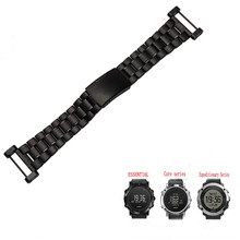 For Suunto Core Essential Billiton origin Black Silver Gold RoseGold Strap Stainless Steel Watchband + Adapter + 2Pcs Tools stainless steel silver pvd black adapter for suunto core watches used to install the rubber nylon suunto core watchband