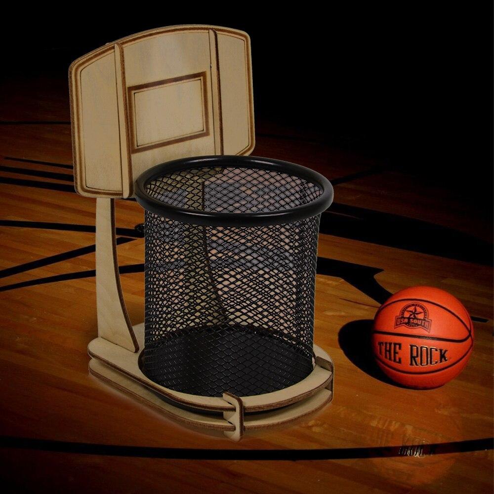 1Piece DIY Office Basketball Stand Pen Holder Pencil Holder Table Decoration  Sport For Basketball Fans