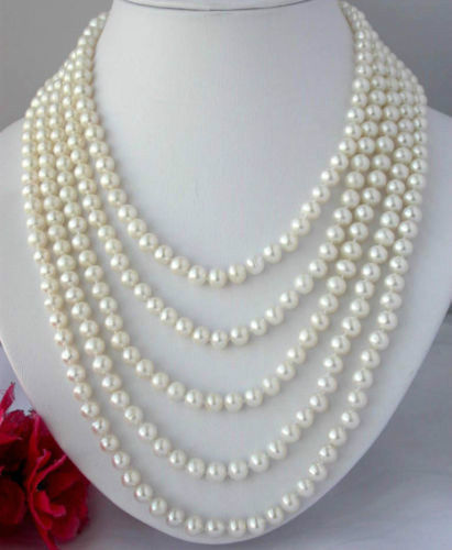 "100"" INCH Natural BEAUTIFUL 8-9 MM AKOYA WHITE PEARL NECKLACE"
