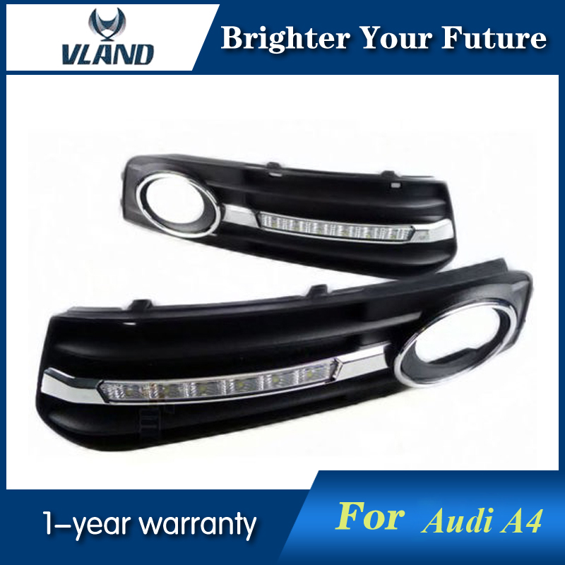 Daylight For Audi A4 A4L B8 2009 2010 2011 2012 LED Daytime Running Lights fog lamp led car light for audi a4 a4l b8 2009 2010 2011 2012 car styling led drl daytime running light daylight fog lamp cover hole