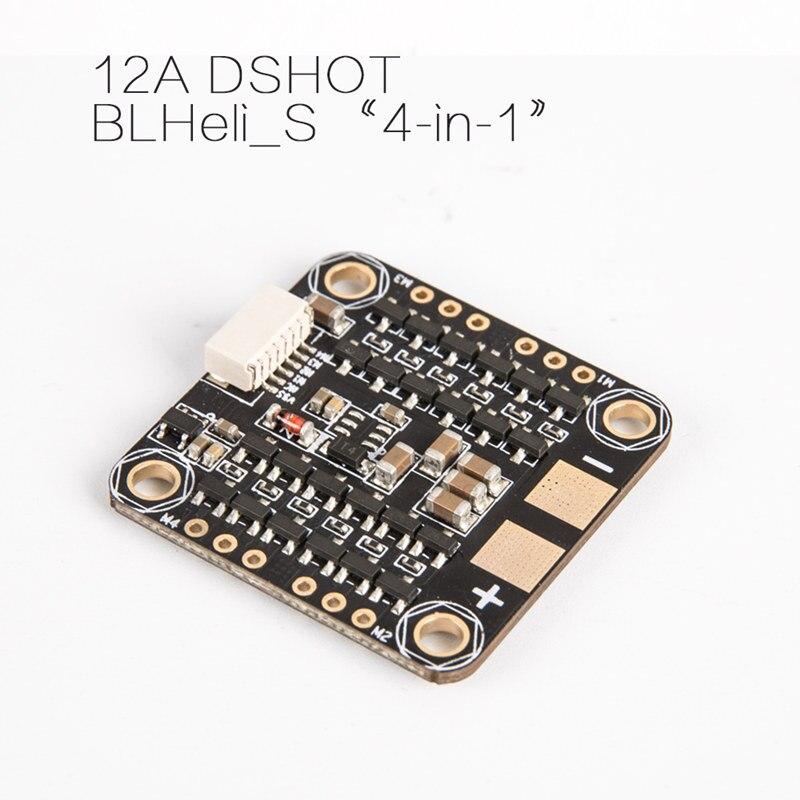 iflight iPeaka EFM12A 2-4S 4 in 1 BLHeli-S Dshot ESC for DIY mini FPV racing drone QAV180 UFO130 GTR130 emax f4 magnum tower parts bullet 30a 4 in 1 blheli s esc 2 4s built in current sensor for fpv racing drones brushless motor