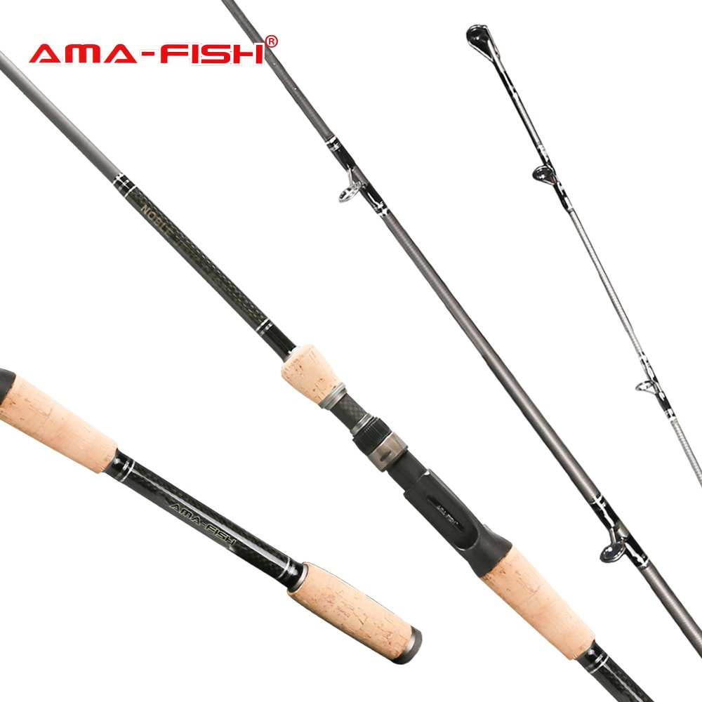 AMA-Fish 100% Original Brand Carp Casting Rod 1.95m Lure Rod 2 Sections Carbon Rods M Action 40-90g Baitcasting Fishing Rod fish hunter 2 44m best quality 2 sections casting lure rod high carbon china made fishing rods fishing tackle