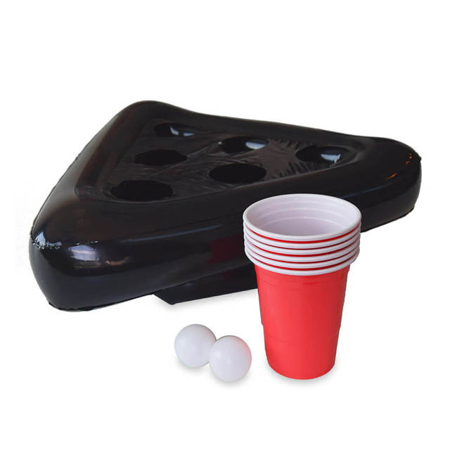 Inflatable Beer Pong Hat Floating Pong Game for Swimming Pool Party Supplies Beach Inflatable Toys for Kids 5