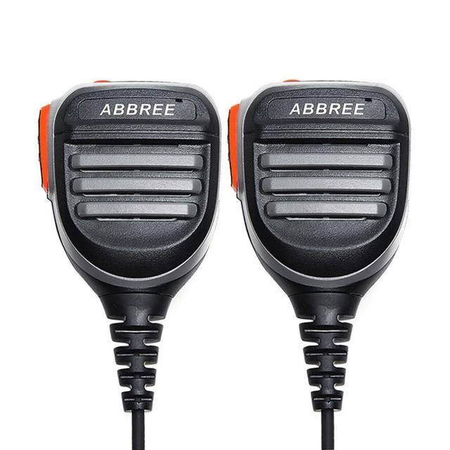 2PCS ABBREE AR 780 Remote Waterproof Shoulder Speaker Mic Handheld Microphone for  TYT Baofeng Walkie Talkie UV5R UVS9 UV 10R