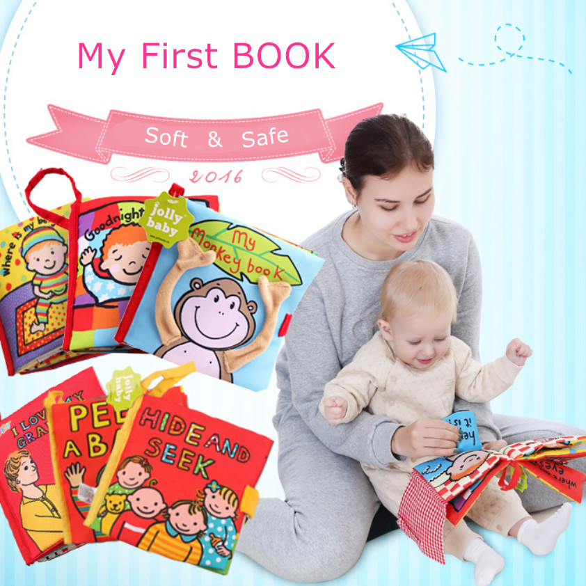 Baby Intelligence Development Cloth Books For Kids Baby