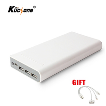 KuChong 20000mah Power Bank 18650 External Battery 3 USB Charger Portable Fast Charger for All Phone Fast Shipping