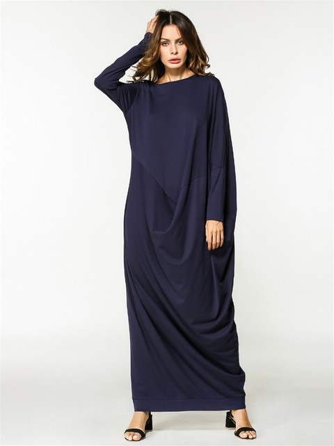 US $22.22 41% OFF|Summer Autumn Black long Dress Muslim Plus Size Dress  Loose Large Size Women\'s Tunic Dress cosplay costume Halloween-in Anime ...