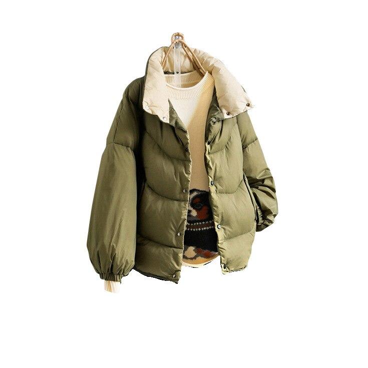 D'origine Green Épaisse Lâche Veste Col D'hiver Femmes Courte Noir Section De Bas Nouvelles army Doudoune Le Vers Pied w8rqwTnE