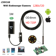 8mm Lens Wifi Android Iphone Endoscope Camera 1M 2M Waterproof Snake Tube Pipe Borescope 720P Iphone Camera Endoscope 1280*720 цены