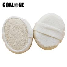 Goalone Губка из натуральной люфы Мягкий банный халат; тела губка для отшелушивания скребок для спины, Массажная душевая мочалка Аксессуары для ванной комнаты