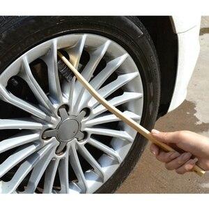Image 1 - Escova de limpeza do motor automático aro de carro roda pneu limpeza multi função bambu lidar com mane escovas de lavagem de carro limpeza 40 cm para fora dobrar