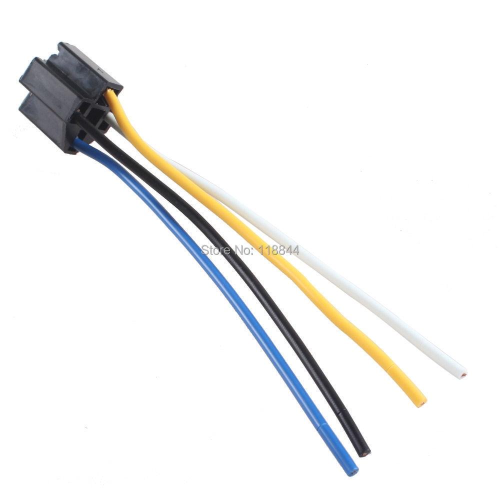 online get cheap volt sensor com alibaba group 2pcs car 12v 12 volt dc 40a amp relay harness socket 4pin 4 wire s sensors