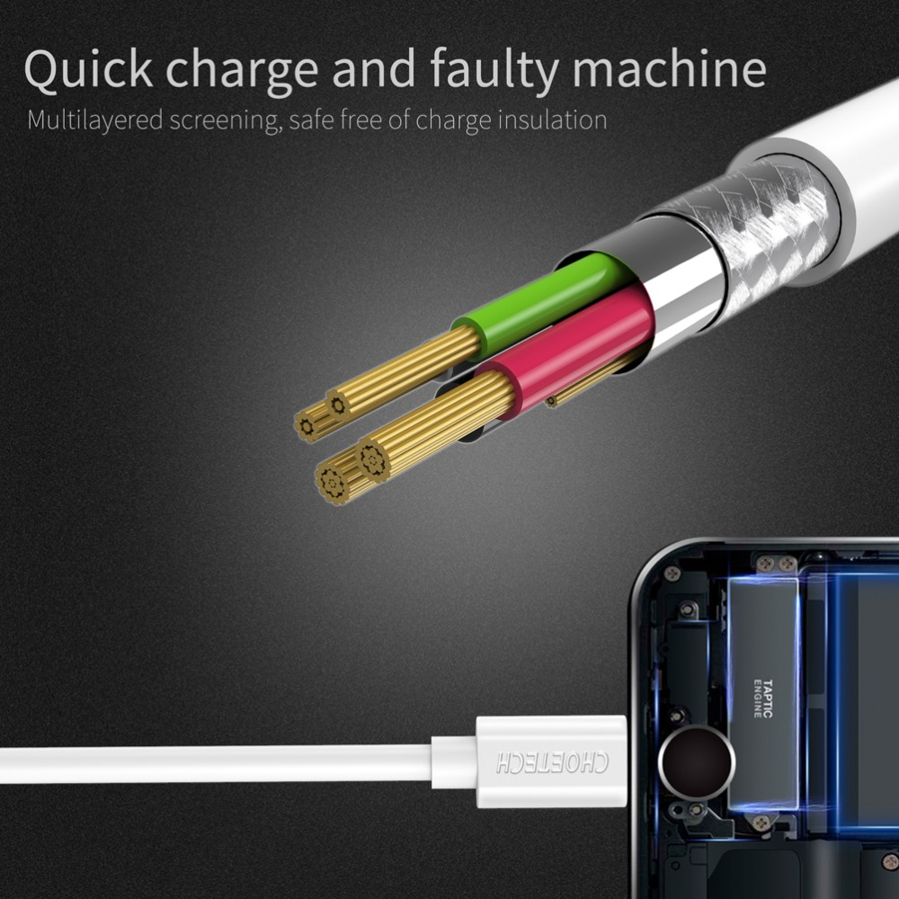 Image 4 - Choetech Micro Usb Cable 5V 2.4A USB Fast Charging 1M 0.5M TPE Cable Mobile Phone Cables For Xiaomi Huawei Android Phone Cable-in Mobile Phone Cables from Cellphones & Telecommunications