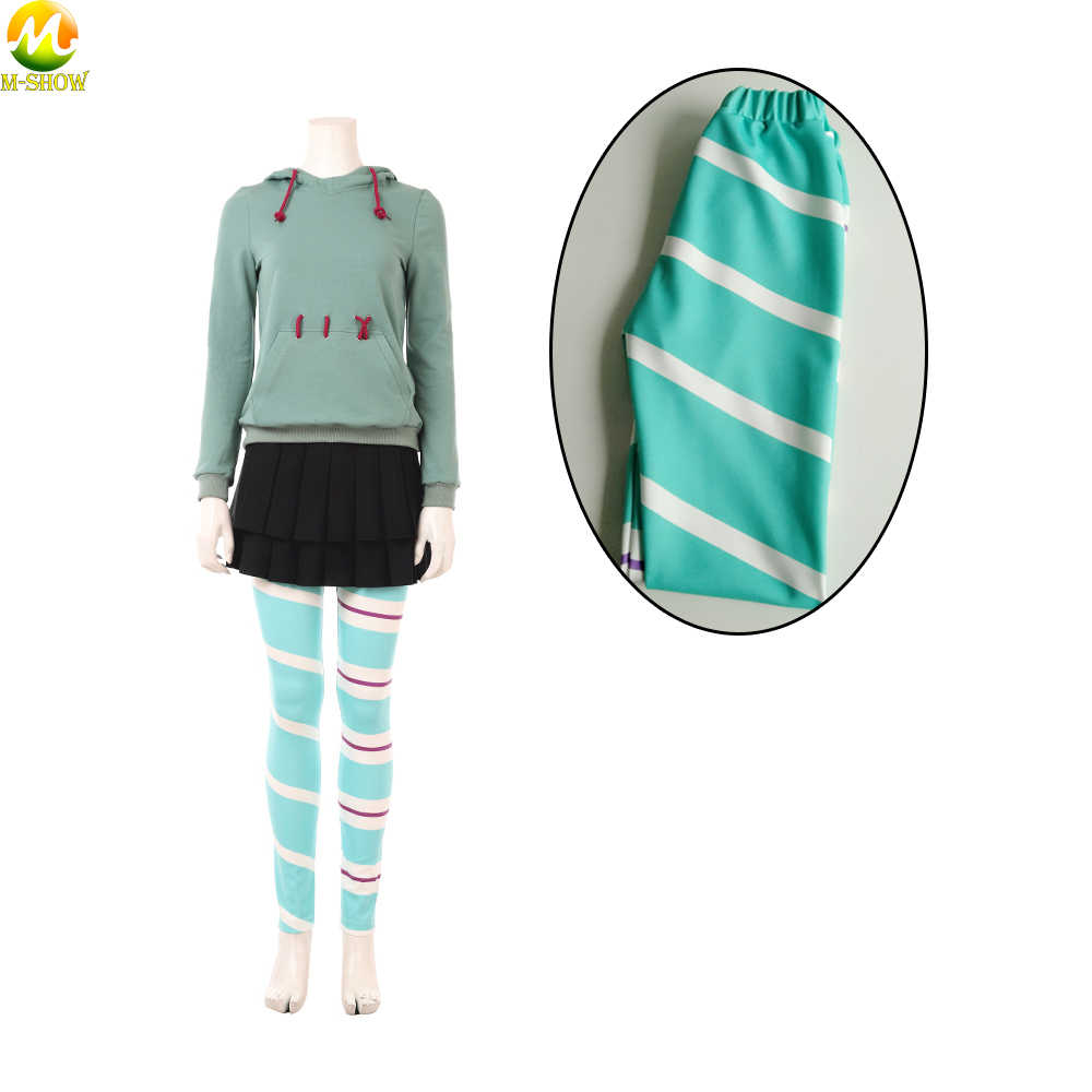 Kids Wreck-It Ralph 2 Vanellope von Schweetz Skirt /& Pants Cosplay Outfits NEW