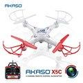AKASO X5C 4CH 2.4 GHz RC aviões voando Zangão com Câmera HD Controle Remoto Avião Quadcopter hexacopter FPV UAV Profissional