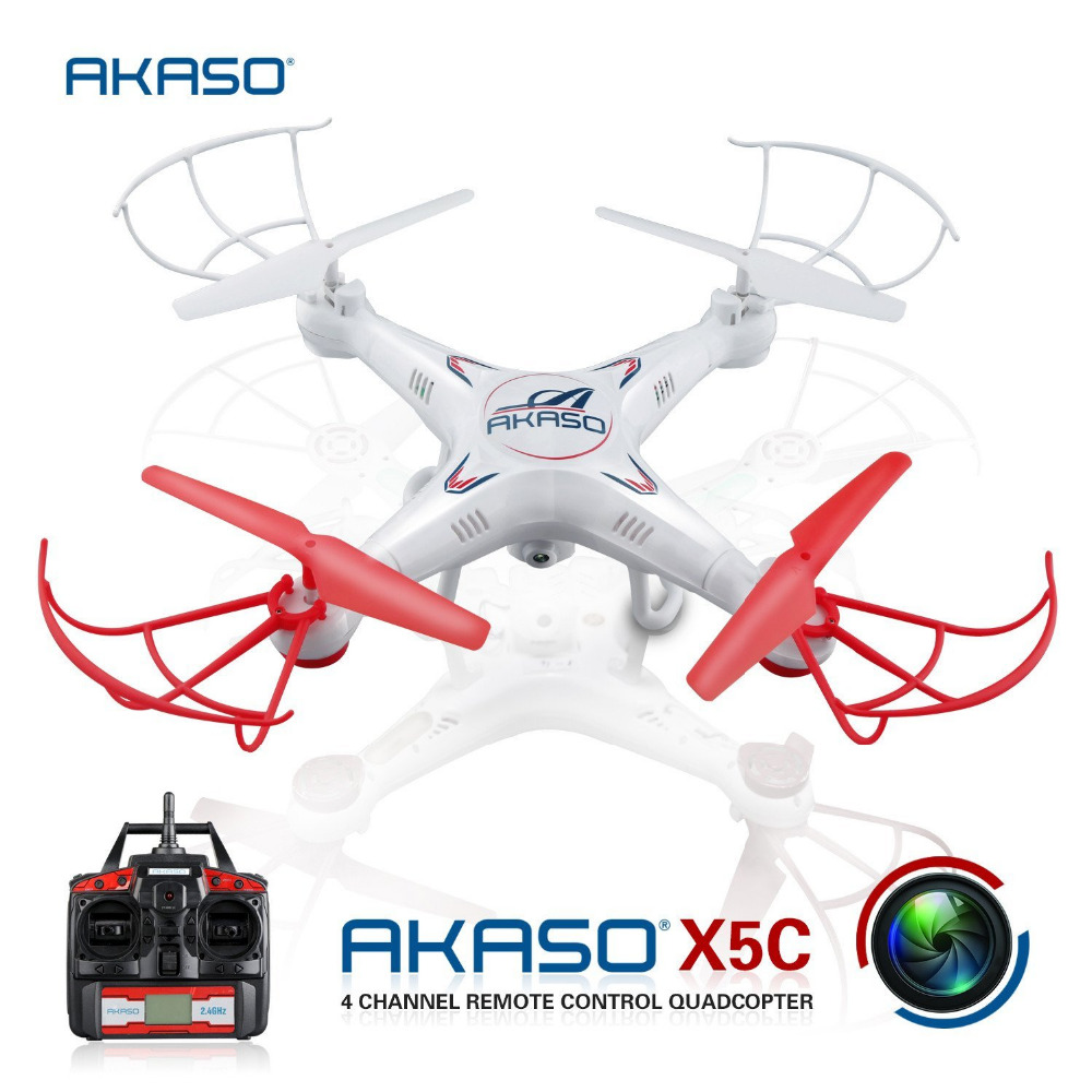 ФОТО AKASO X5C 4CH 2.4GHz RC planes flying Drone with Camera HD Remote Control Airplane Quadcopter FPV UAV Professional hexacopter