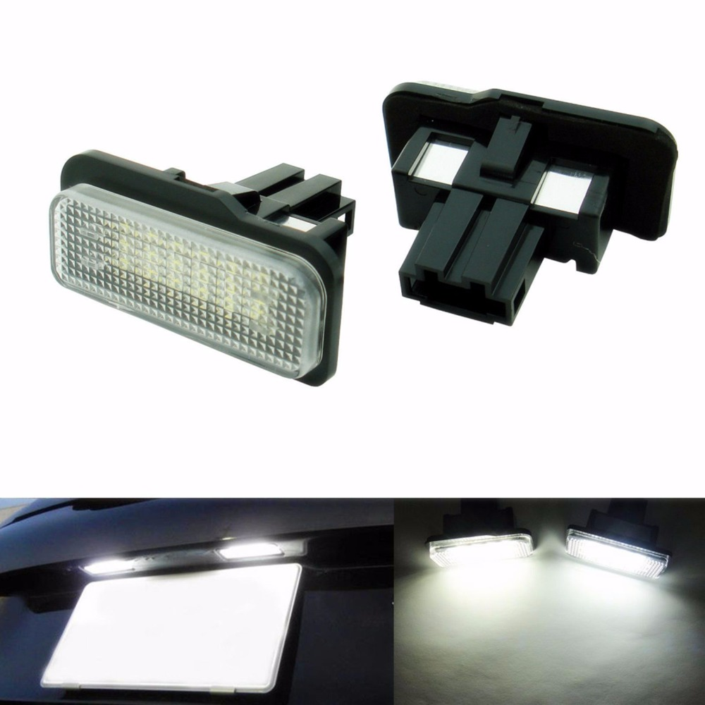 2X Car LED License Plate Lights 12V SMD3528 LED Number Plate Lamp Bulb Kit For Mercedes W211 W203 5D W219 R171 Benz Accessories for mercedes benz slk r171 2004 2011 led car license plate light number frame lamp high quality led lights