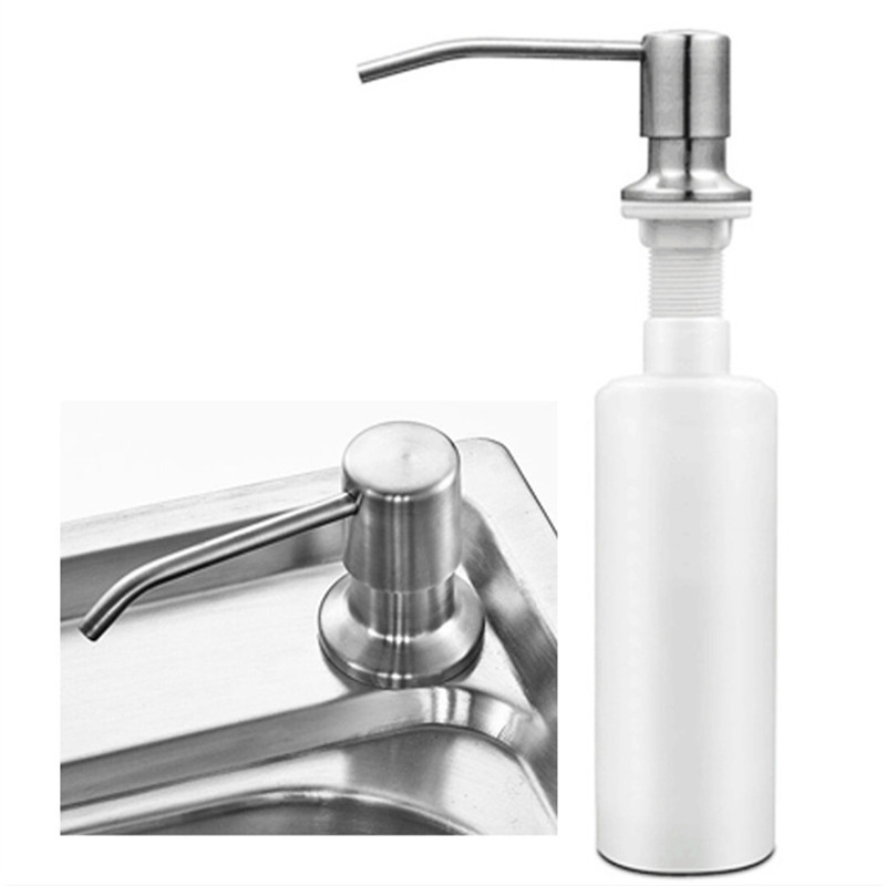 Kitchen Sink Soap Dispenser Detergent Liquid Soap Lotion Dispensers Stainless Steel Head+ ABS Dispenser
