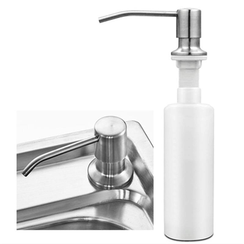 Kitchen Sink Soap Dispenser Detergent Liquid Soap Lotion Dispensers Stainless Steel Head+ ABS Dispenser