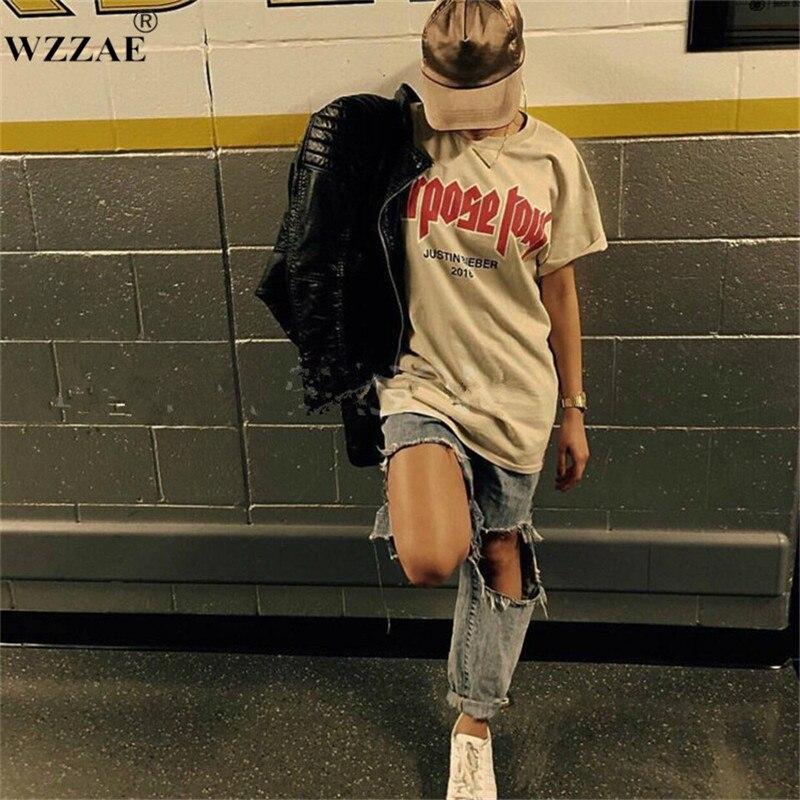 WZZAE hommes T shirt Justin Bieber but Tour Hip Hop T-shirt à manches courtes Homme My Mama ne pas comme vous lettre imprimé hauts Tee-shirt