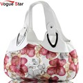 Vogue Star 2017 Fashion Korean handbag flower beautiful Women PU leather Bag Tote Bag Printing Handbags six style Satchel   BK32