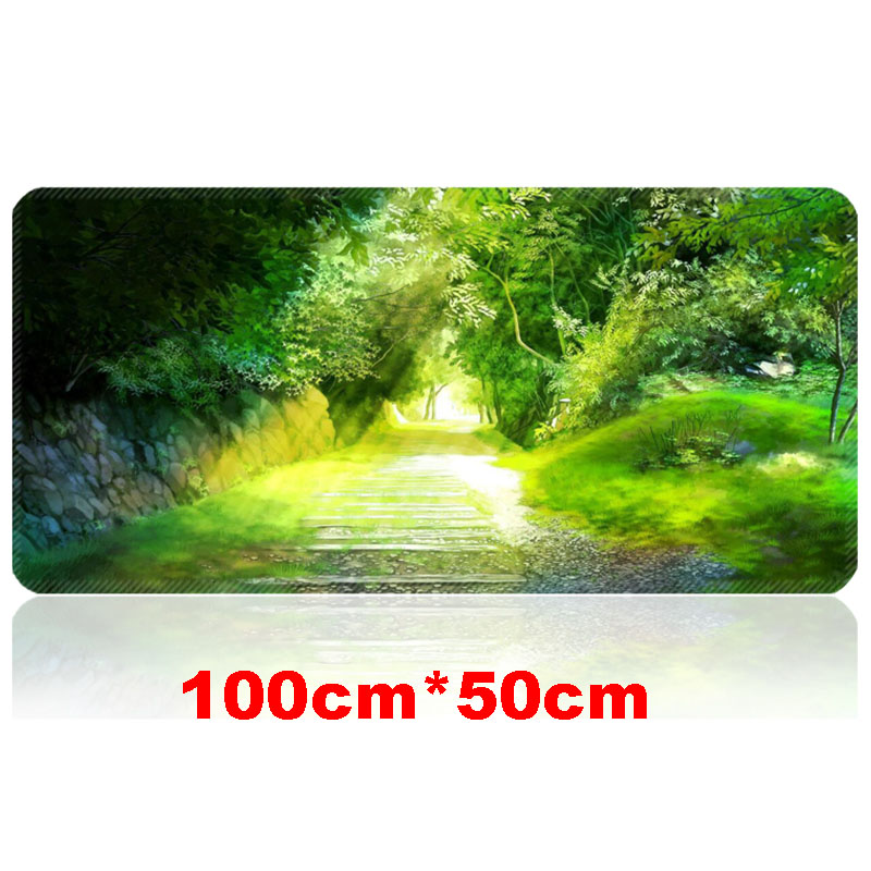 купить 1000*500mm Rubber Large Gaming Mouse Pad Computer Game MousePad World of Tanks Anime Locking Edge Mouse Mat for Dota2 CSGO LOL онлайн