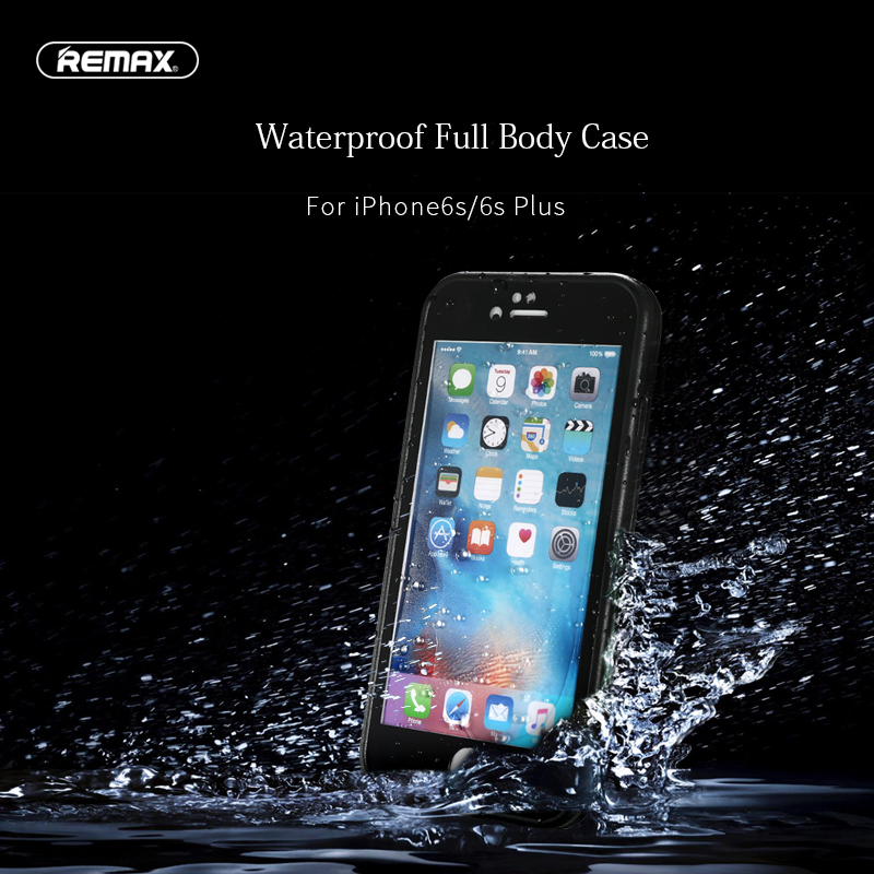 Remax JOURNY Original 2m Waterproof Phone Case for iP6 6S/ 6 6S Plus 360 Degree Protection Cover Seamless Waterproof Case