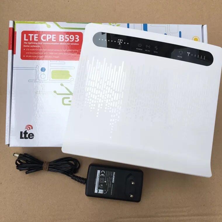 Débloqué Huawei B593 B593s-12 4G LTE routeur 4G routeur avec carte Sim 4G LTE WiFi routeur avec 4 ports Lan