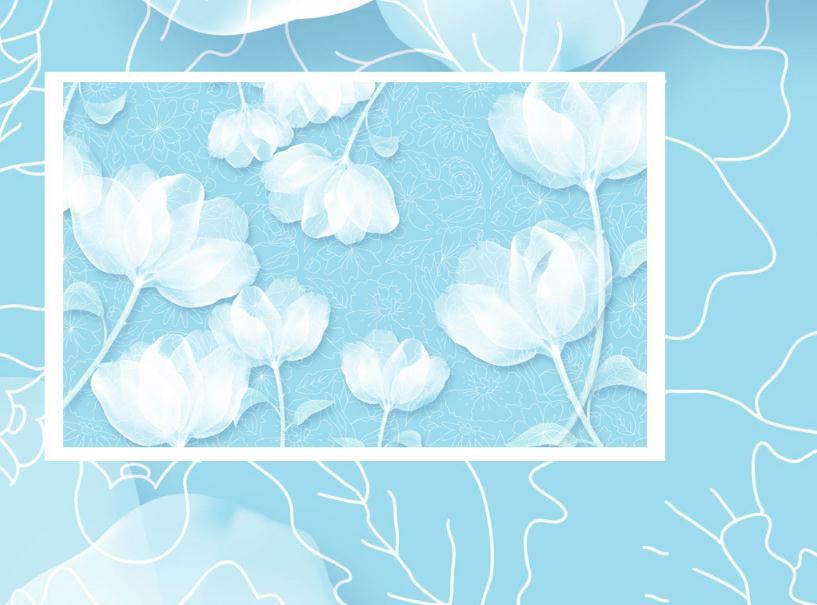 Custom 3 D Modern Wallpaper Hand Drown Simple Flower Wallpaper