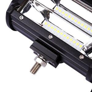 """Image 4 - Barres lumineuses de travail lampe LED tout terrain/288W, 9 34 """", puissance lumineuse LED pour tracteur, bateau, 4WD, camion, 4x4, SUV, ATV"""