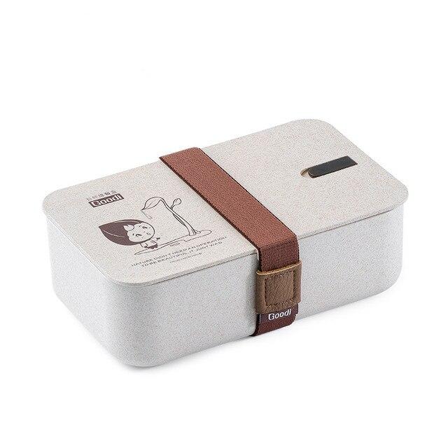 Японский студент bento box печь термостойкие обед коробки просто портативный посуда 15