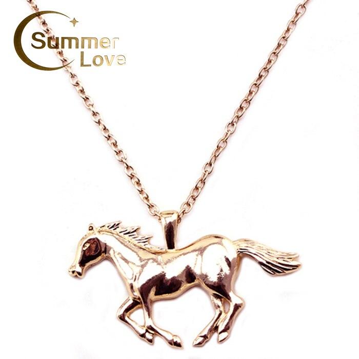 Aliexpress.com : Buy Fashion Suspension Horse Necklace ...