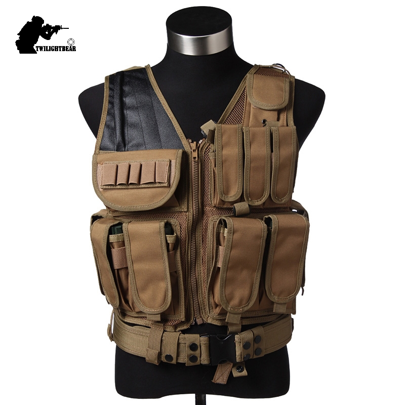 Wholesale Military 045 Tactical Vest MELLO System Breathable Mesh Tactical Vest CS Play Paintball Protective Equipment BE045